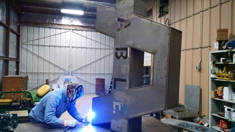 Able Sign being Welded